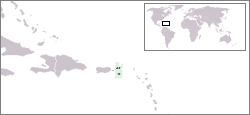 Location of United States Virgin Islands